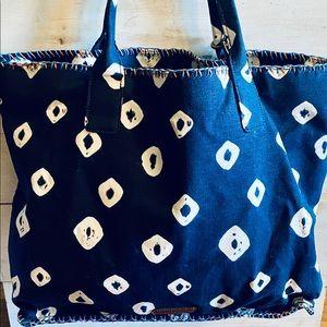 NWOT Lucky Brand Boho Batik Tote Bag